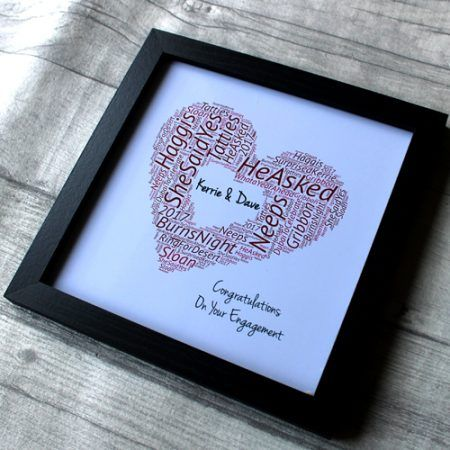 Best Engagement Gifts for friends and family. Personalise your engagement gift with your own words of love. Search Engagement presents that will last a lifetime.engagement party gift ideas.