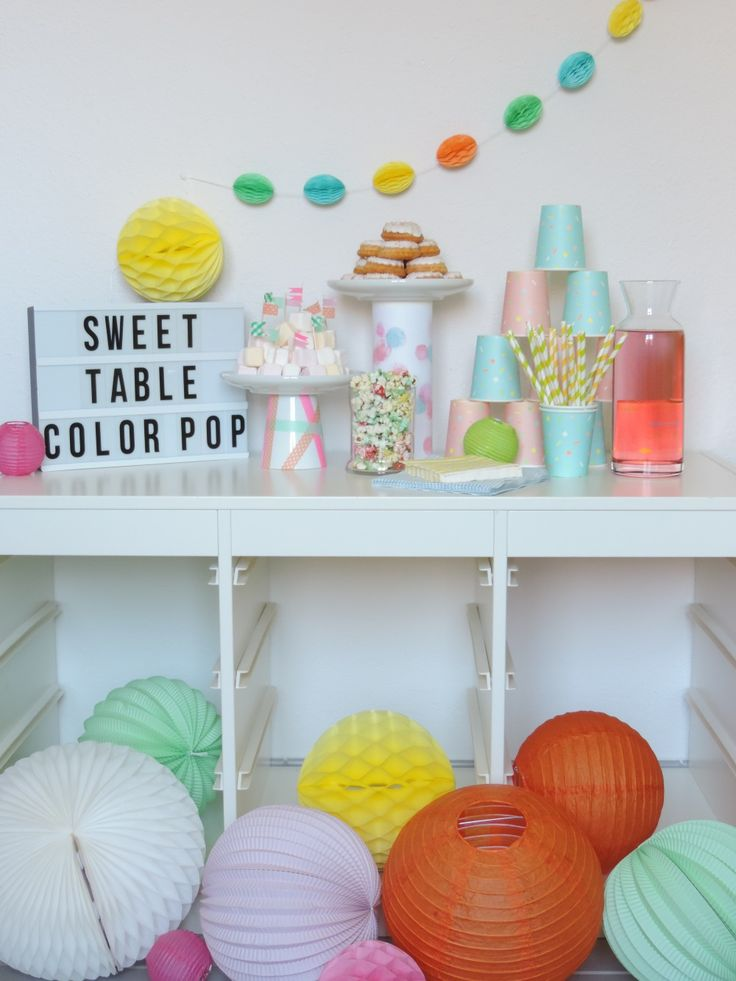 Sweet Table Color Pop