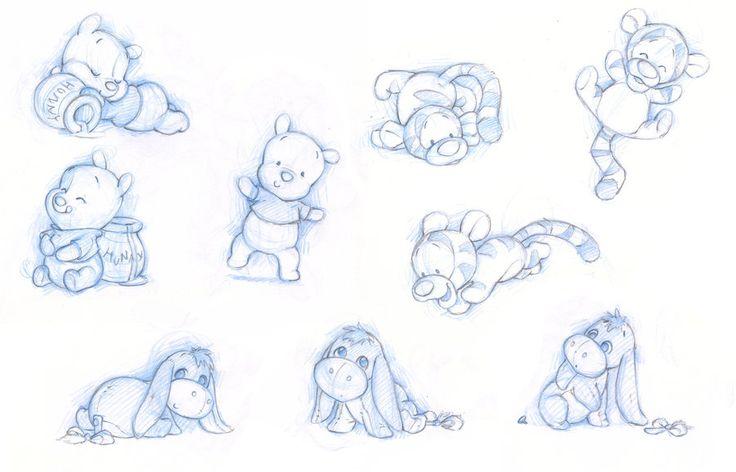 Baby Pooh, Tigger and Eeyore by ShaneMadeArt.deviantart.com on @deviantART