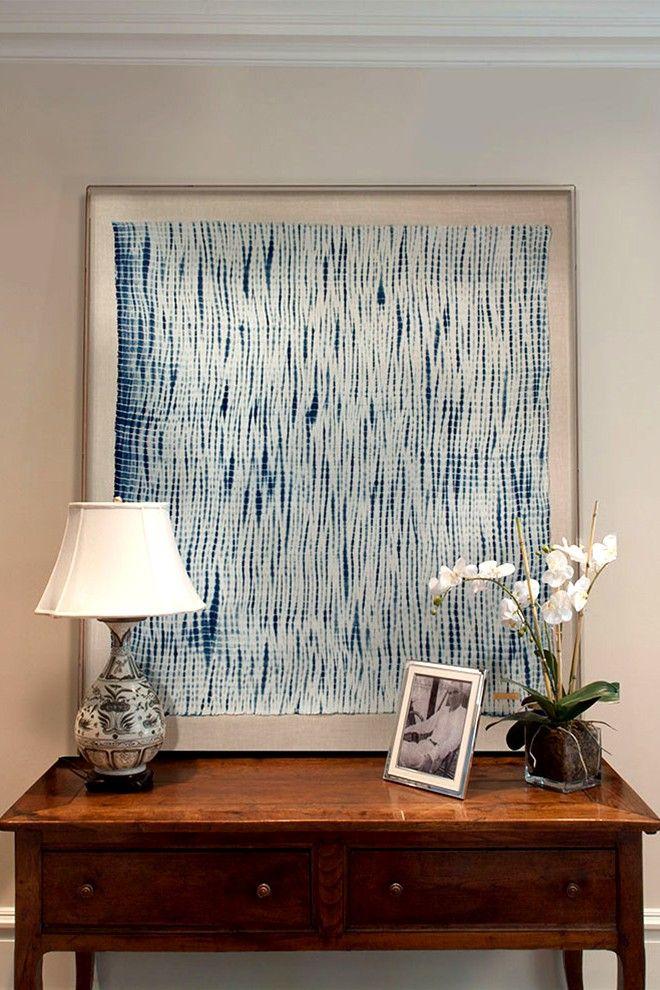 framed textiles as art
