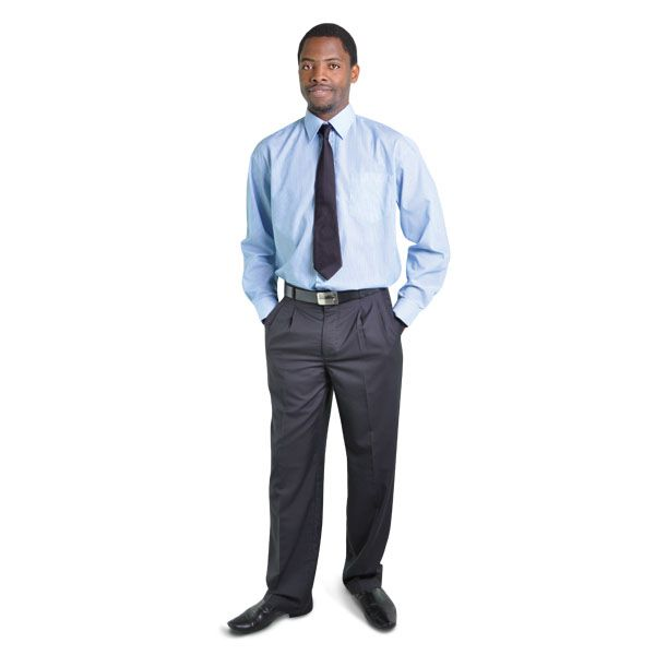 Executive Trousers BRAND: OAKHURST Has top quality durable poly viscose fabric and double back pockets