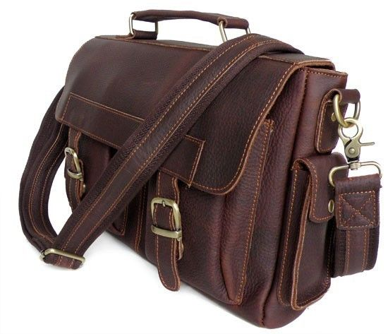 Mens Leather Bags : High Quality Vintage Style Fashion Mens Genuine Leather Shoulder Bag - TucciPolo