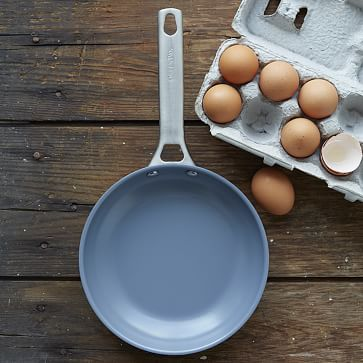 a nonstick pan is a must for cooking delicate foods like eggs. This cute Greenpan incorporates a fun pop of color.