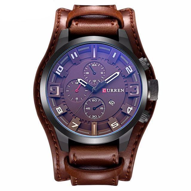 CURREN Men's Top Brand Luxury Quartz Watches Men's Sports Quartz-Watch Leather Strap