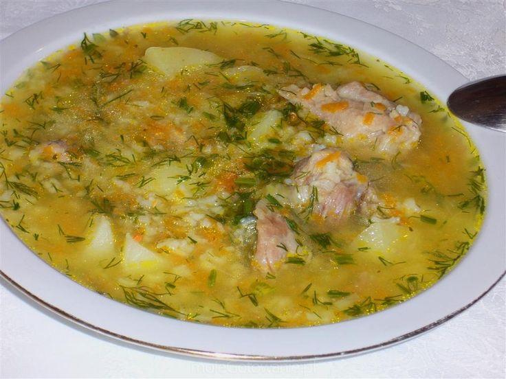 Zupa ryżowo-koperkowa Anullka