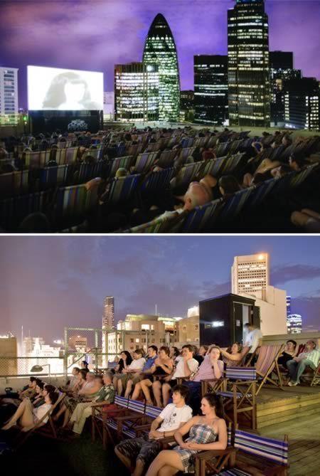10 Coolest Rooftop Attractions (rooftop cinema, rooftop bar) - ODDEE