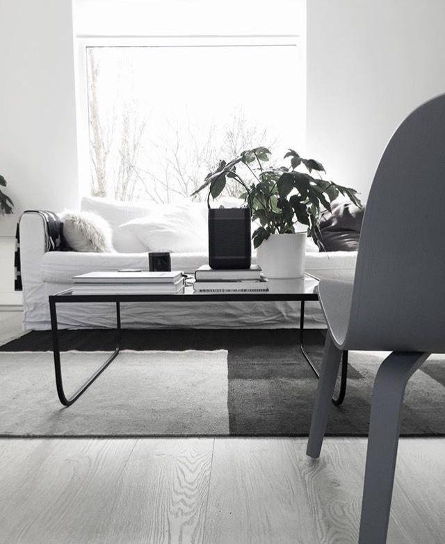 White and gray modern living room.
