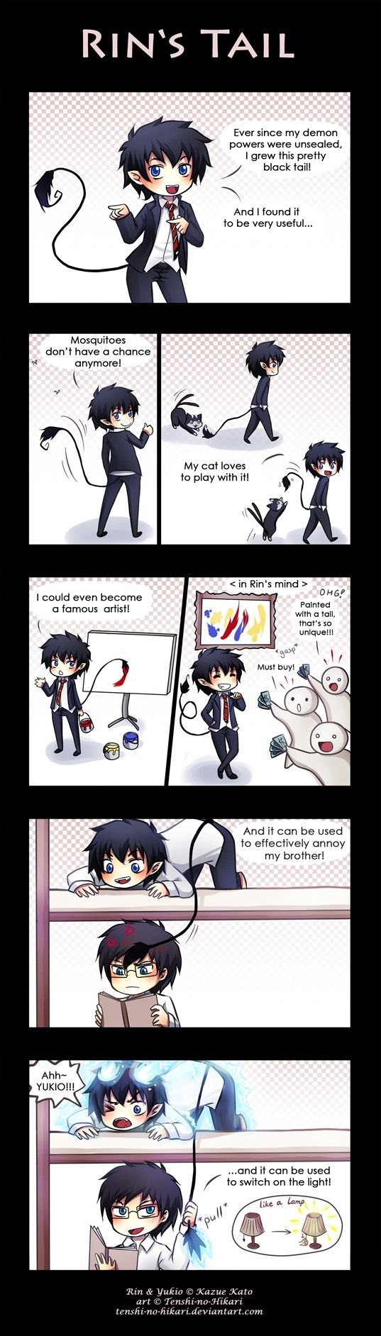 Anime/manga: Blue Exorcist Characters: Rin and Yukio, seriously dude?