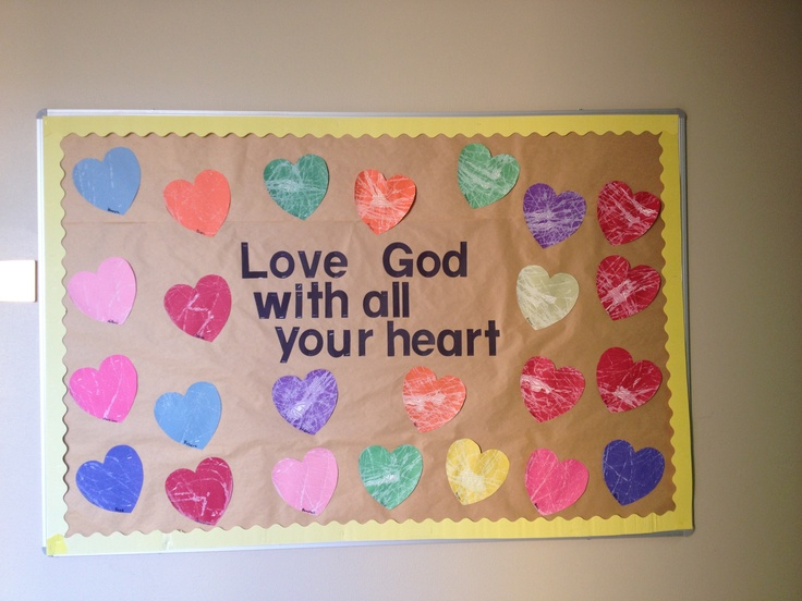 102 best christian bulletin boards images on pinterest for Preschool crafts for february