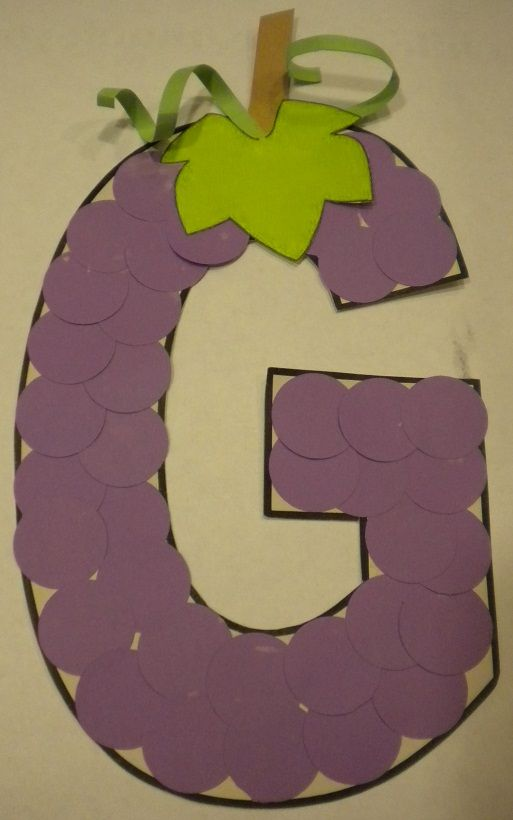 G is for Grapes. THIS WOULD FIT IN NICELY with the  HEALTHY/ UNHEALTHY growing…