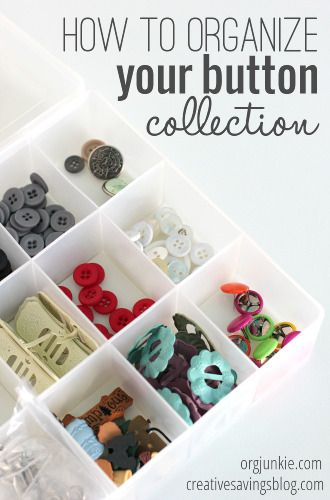 how to organize your button collection bedroom