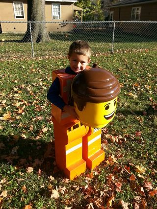 My son wanted to be Emmet from LEGO MOVIE for Halloween so I looked all over for the costume @ every retailer imaginable, after I had run out of options I decided...