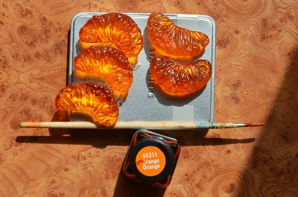 Делаем брошку-мандаринку из эпоксидной смолы. своимируками, мандарины, мастер-класс, длиннопост, пятничное, брошка, эпоксидная смола
