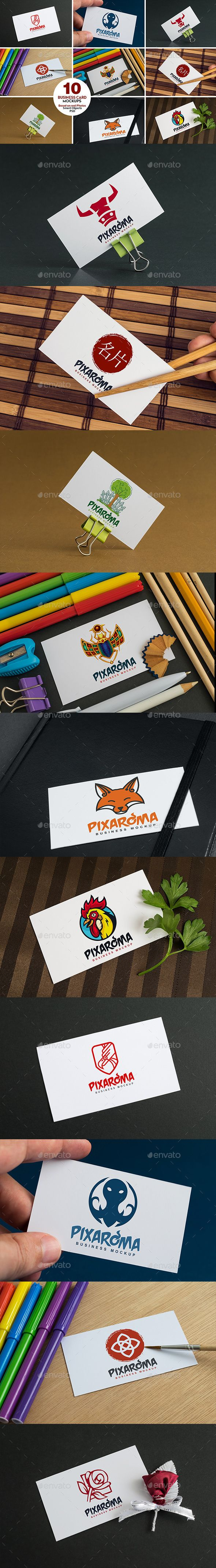 720 best business card mockup images on pinterest miniatures 10 business card mock ups vol1 reheart Image collections
