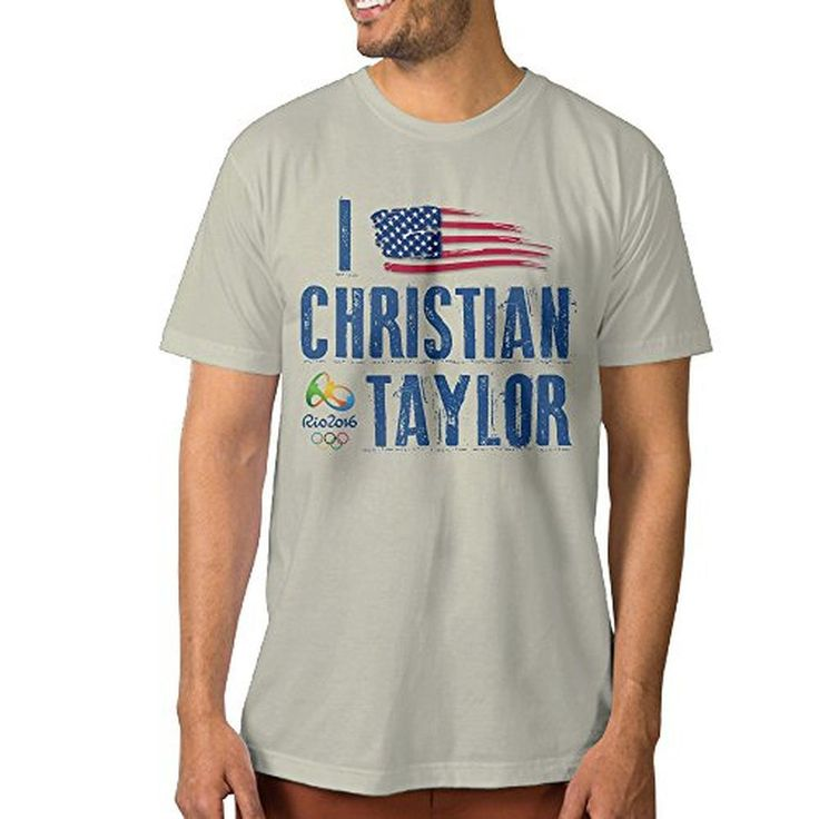 ^GinaR^ Men's I Love Christian Taylor Cool Short Sleeve L Natural - Brought to you by Avarsha.com