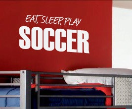 Eat Sleep Soccer Vinyl Wall Art Inspirational Decal Lettering Quote Sticker S03