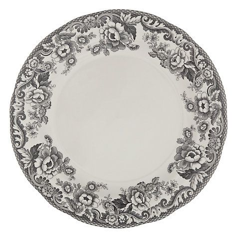 Buy Spode Rural Delamere for John Lewis Dinner Plate, Dia.28cm, Grey Online at johnlewis.com