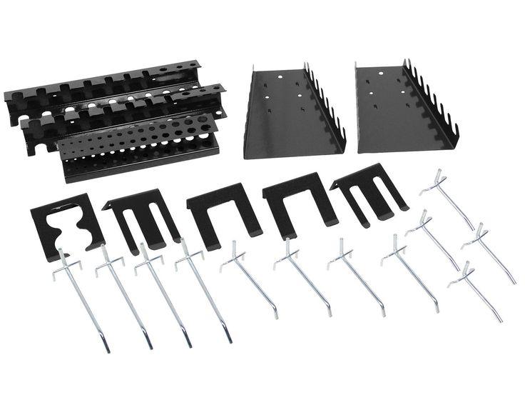 Lochwandhaken Werkzeughalter für Lochwand Bohrerhalter Zangenhalter 22 tlg NEU | eBay
