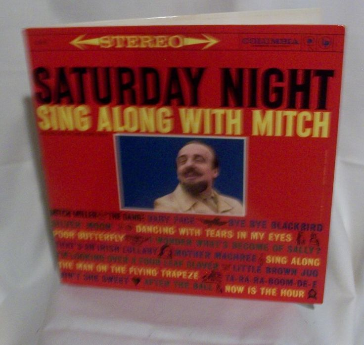 Saturday Night Sing Along with Mitch Columbia Records LP 33 CS 8211  1960 Pop #ContemporaryFolkTraditionalFolk