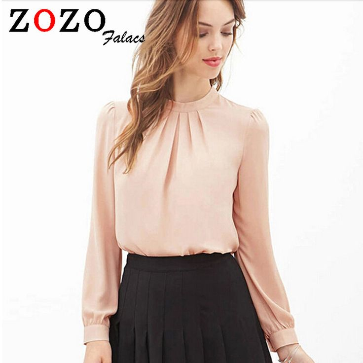 Falacs zozo 2016 Women Elegant Blouses Sexy Blouse Shirt Casual Long Sleeve Shirt Ladies Work Office Shirt