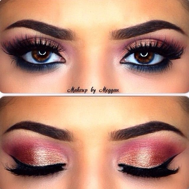 Always so scared of red eyeshadow but, this looks amazing with her brown eye!