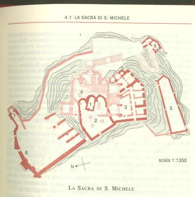 Planimetria Sacra di San Michele in Susa
