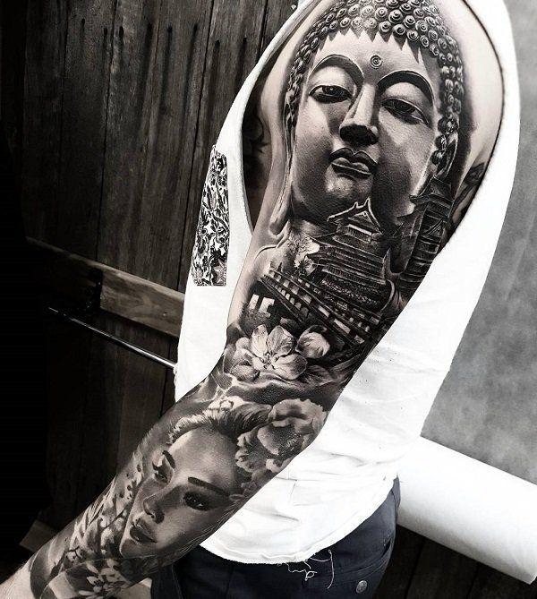 60 inspirierende Buddha Tattoo Ideen – #Buddha #Id…
