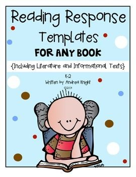 New Item:  Reading Response Templates for Any Book  {Literature and Informational Texts}  81 pages, $