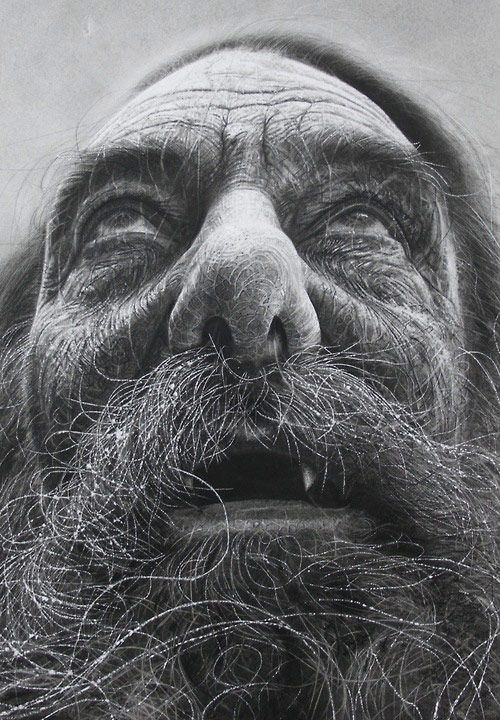 Drawings by artist Douglas McDougall- did i mention how much i love old wrinkly folk