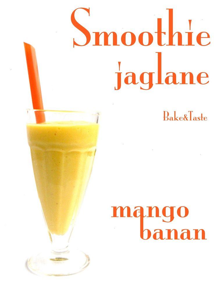 Bake&Taste: Koktajl jaglany banan-mango  Coctail smoothie mango banana