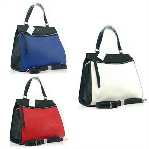 Favorit yg siap dikirim ke rumah kamu jg nih.. Celine Edge Two Tone (Red, Blue, White) (L34 x T30) - Rp. 350.000 #bag #branded #import #quality #woman #tascewek #celine #fashion #favorite #fashionstuff #tas #murah #jual #jualan #iklan #iklan_instagram #iklanpromosi #promosi_id - @toserba_fashion- #webstagram