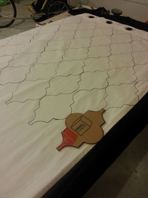 stencil your curtains without dealing with crunchy fabric paint this is a super easy and