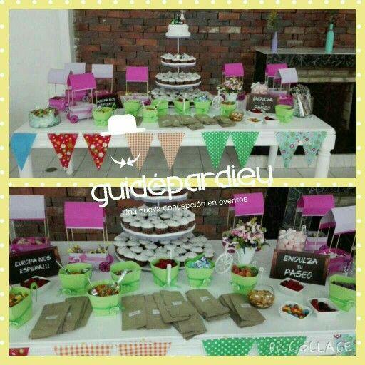 Mesa de colaciones y dulces