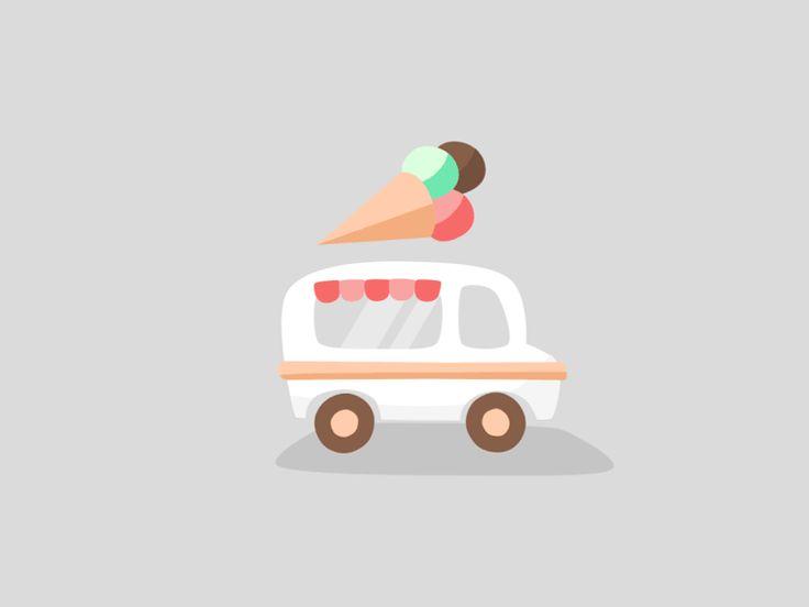 Ice Cream Truck GIF by Dennis Hoogstad