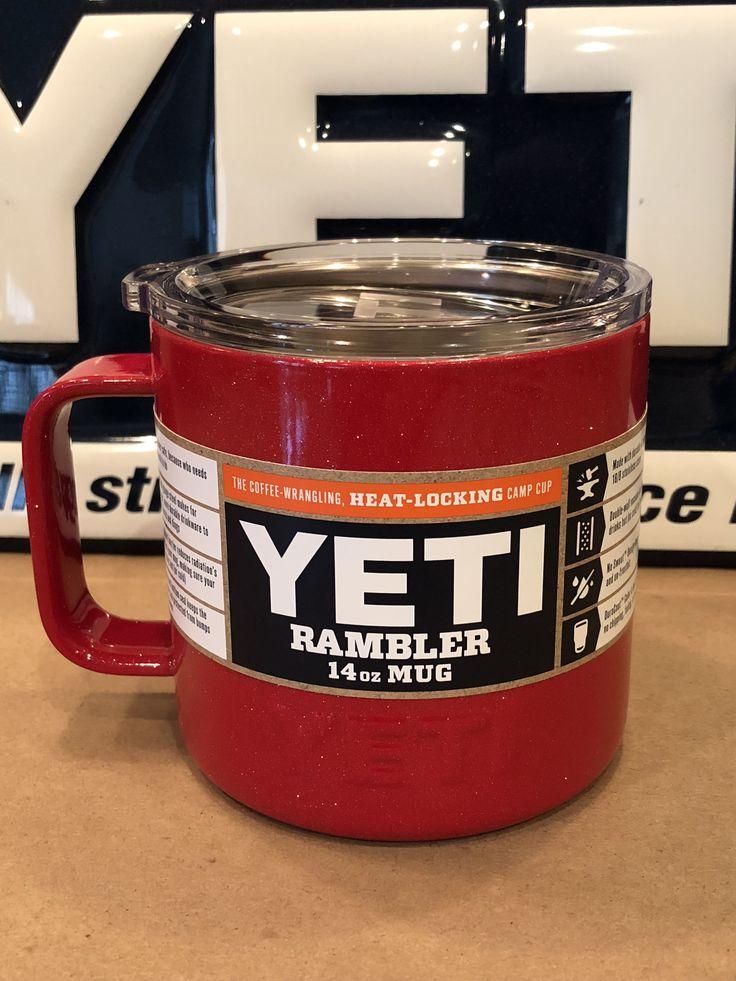Custom Powder Coated Sparkle Red Yeti Rambler Camp Mug