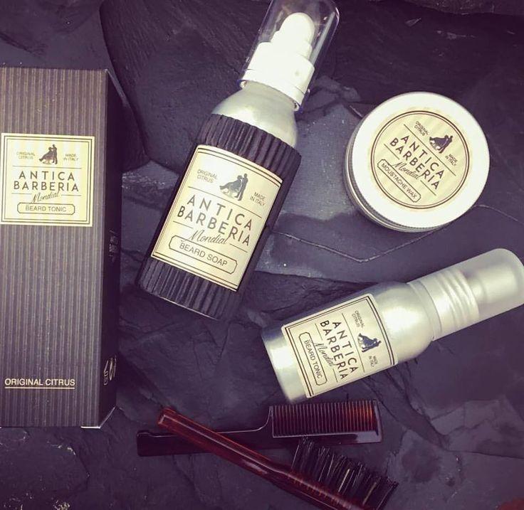 Mondial Antica Barberia 'Original Citrus' shaving products.