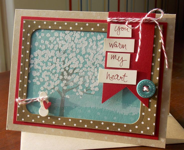 Laura's Works of Heart: SHELTERING TREE CARD: