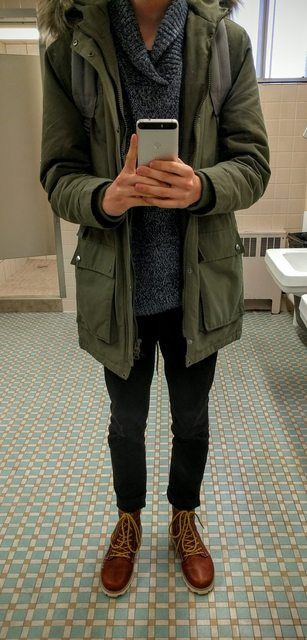 Topman coat, Guess sweater, True Religion jeans, Volcom boots.