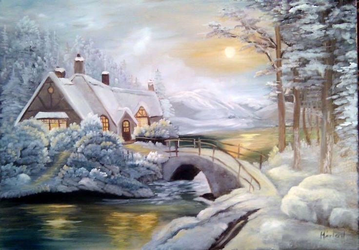 Teli taj, oil painting 50 x 70