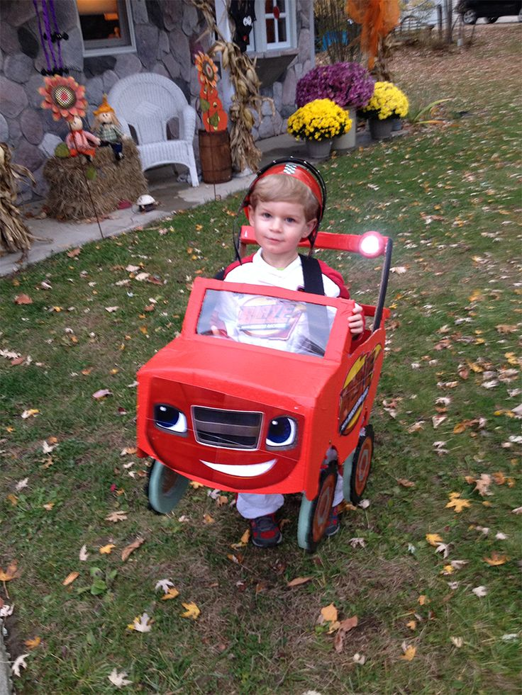 This little Blaze and the Monster Machines fan has an outstanding homemade costume!