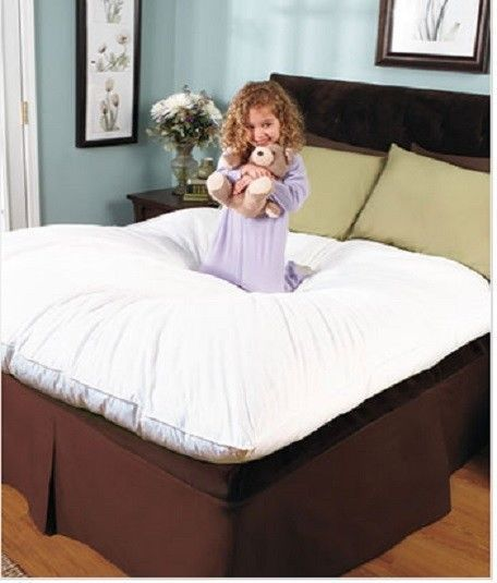 Down Feather Pillow Bed Mattress Pad Bedding Sofa Top