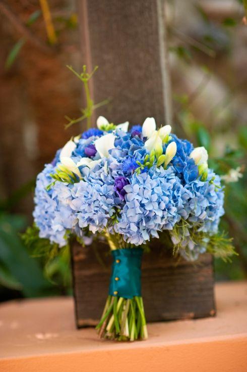 blue wedding flower bouquet, bridal bouquet, wedding flower