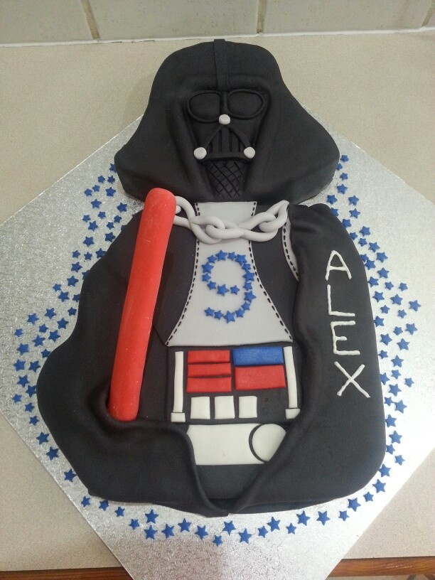 Darth Vader Alex's 9th birthday cake