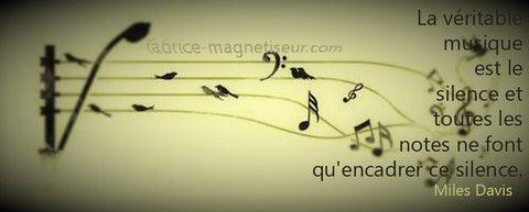 Citation proverbe musique silence miles davis for Dabs je craque parole