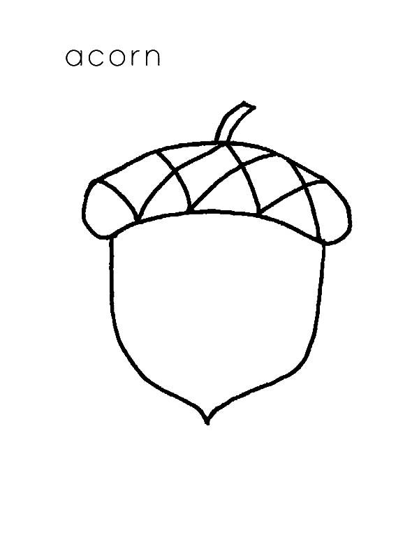 A Is For Acorn Coloring Pages : Coloring Sky | Coloring ...