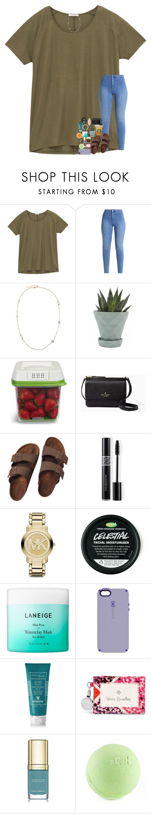 """""""Goodnight everyone! 😴 💤"""" by lovelyelegantgirl ❤ liked on Polyvore featuring Lee, Emily & Ashley, Chive, Rubbermaid, Kate Spade, Birkenstock, Christian Dior, Michael Kors, Laneige and Speck"""