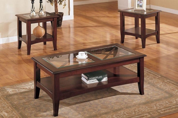 Glass Coffee And End Table Sets Living Rooms 3 Piece Coffee Table Set Picture
