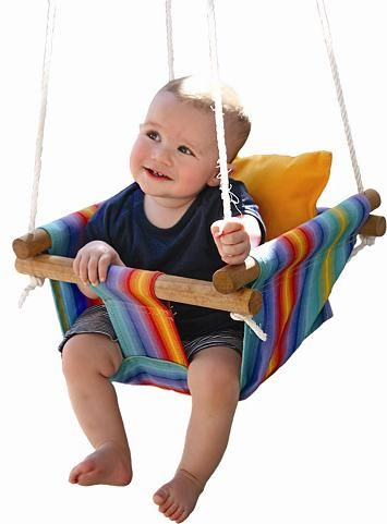 Kid Swings!  Made in Australia, but I am thinking I could figure out how to make this.