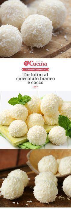 Ricetta tartufini al cioccolato bianco e cocco