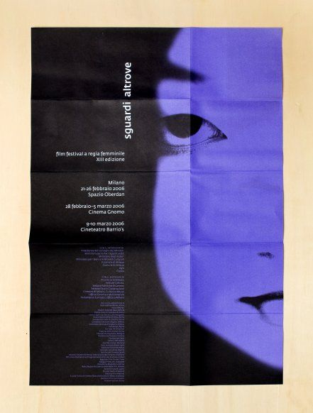 Silvia Sfligiotti - Association Looks Elsewhere Poster, program and catalog for an exhibition of cinema directed by women.
